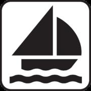 Symbolische Darstellung eines Segelschiffs